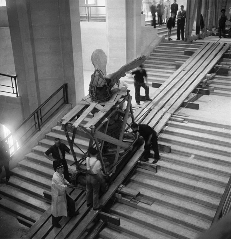 moving the Ascent of the Winged Victory of Samothrace world war II the louvre
