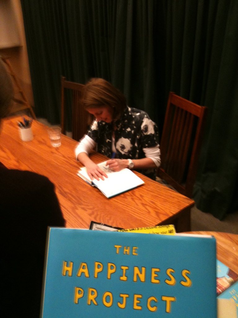 Gretchen Rubin. Book Signing. Happiness Project.