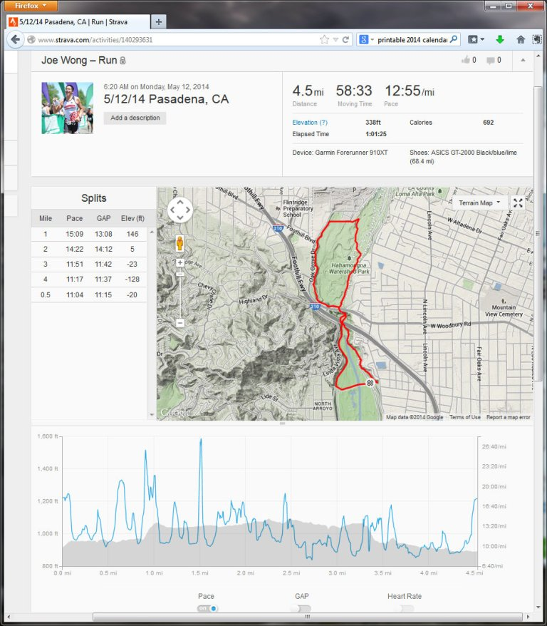 51214 Pasadena, CA  Run  Strava - Mozilla Firefox 5122014 85053 AM