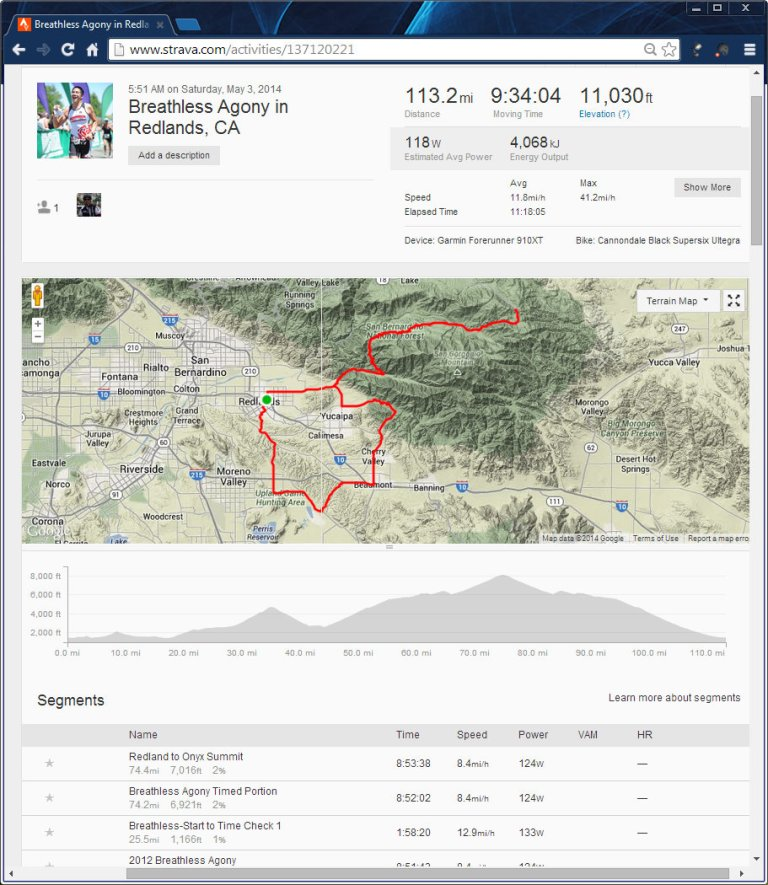 Breathless Agony in Redlands, CA  Ride  Strava - Google Chrome 532014 83955 PM