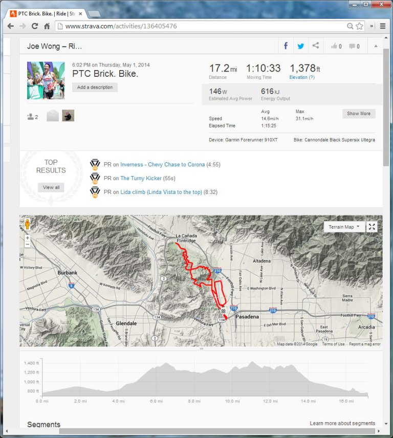 PTC Brick. Bike.  Ride  Strava - Google Chrome 512014 93007 PM