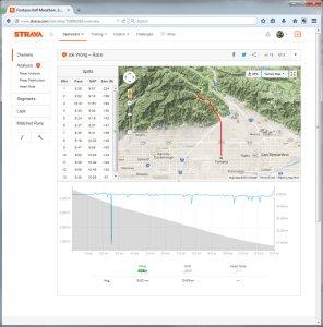 Fontana Half Marathon. 15726 Broke 2 hr mark PR.  Run  Strava - Mozilla Firefox 12312014 100120 AM