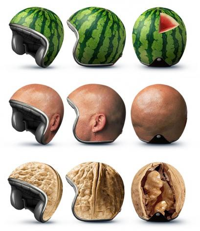 Novelty Crash-Helmets Suggest Pulpy Soft Contents_0