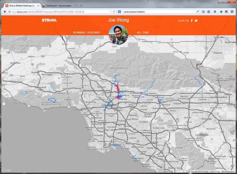 Strava Athlete Heatmap  Joe Wong - Mozilla Firefox 11182014 43048 PM