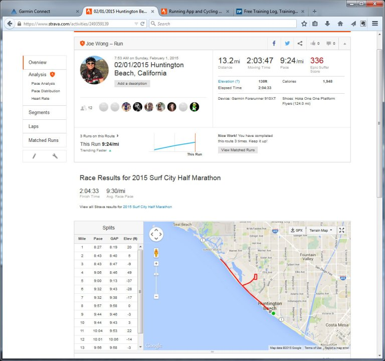 02012015 Huntington Beach, California  Run  Strava - Mozilla Firefox 212015 91405 PM