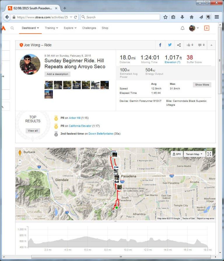 02082015 South Pasadena, California  Ride  Strava - Mozilla Firefox 282015 111021 AM