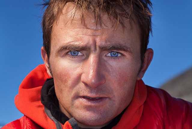 Ueli Steck on Everest in April 2012.