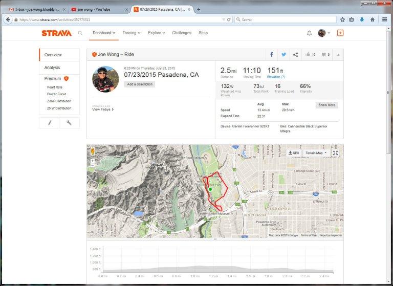 07232015 Pasadena, CA  Ride  Strava - Mozilla Firefox 7242015 105531 AM
