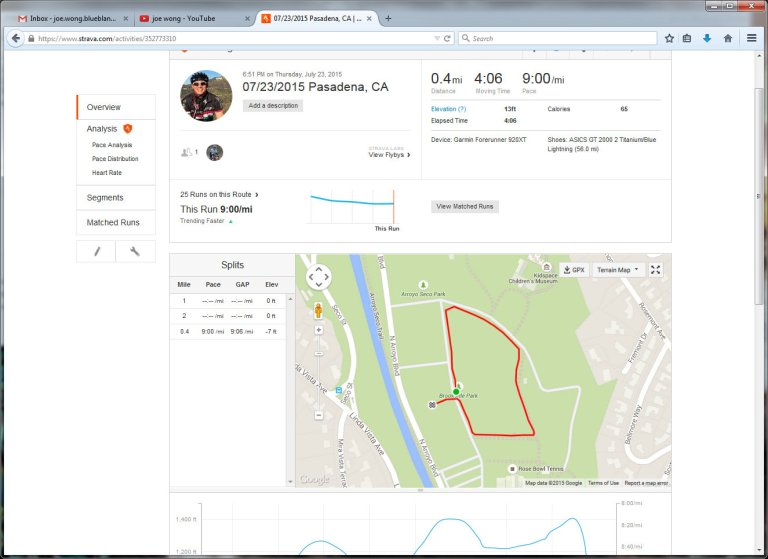 07232015 Pasadena, CA  Run  Strava - Mozilla Firefox 7242015 105516 AM