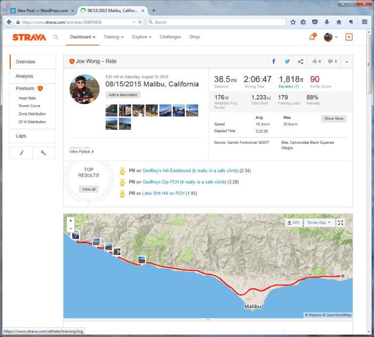 08152015 Malibu, California  Ride  Strava - Mozilla Firefox 8152015 122259 PM