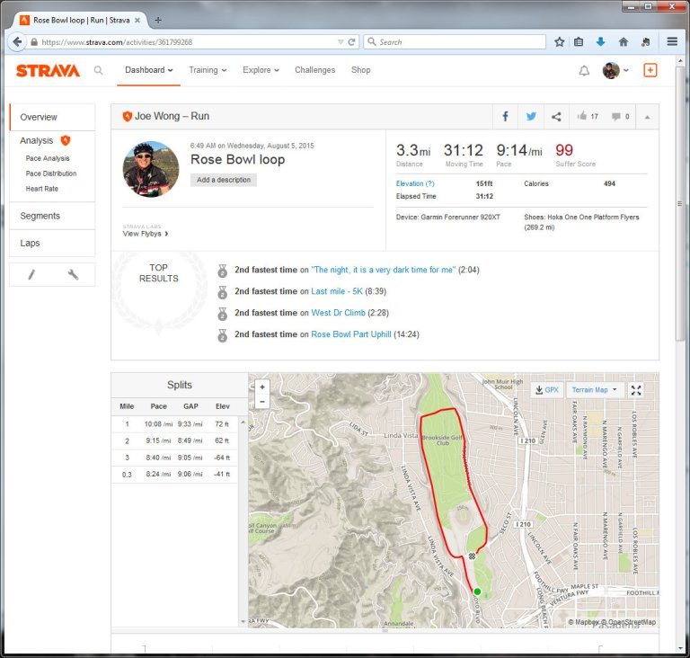 Rose Bowl loop  Run  Strava - Mozilla Firefox 862015 11602 PM