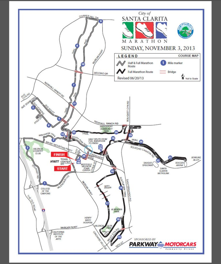 Santa Clarita Marathon Map