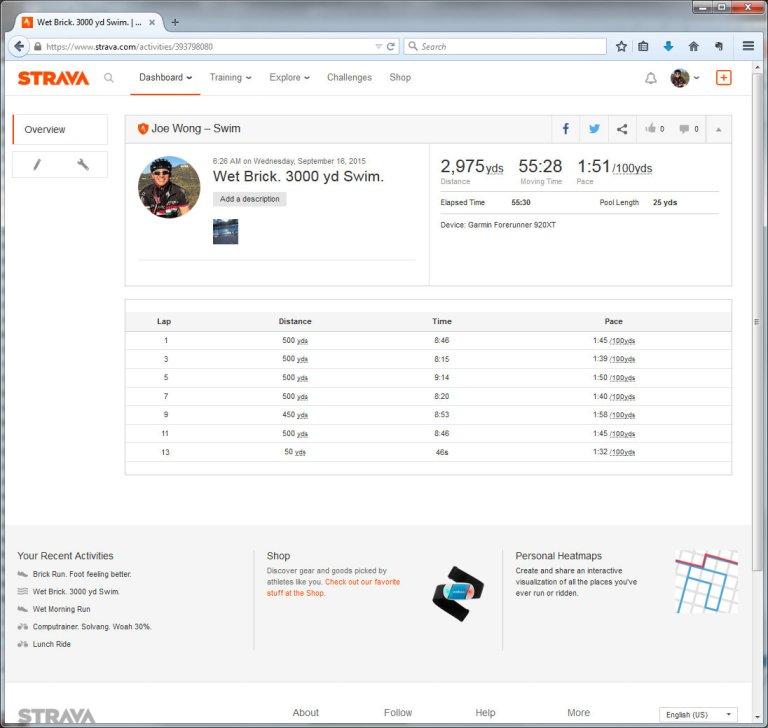 Wet Brick. 3000 yd Swim.  Swim  Strava - Mozilla Firefox 9162015 44823 PM