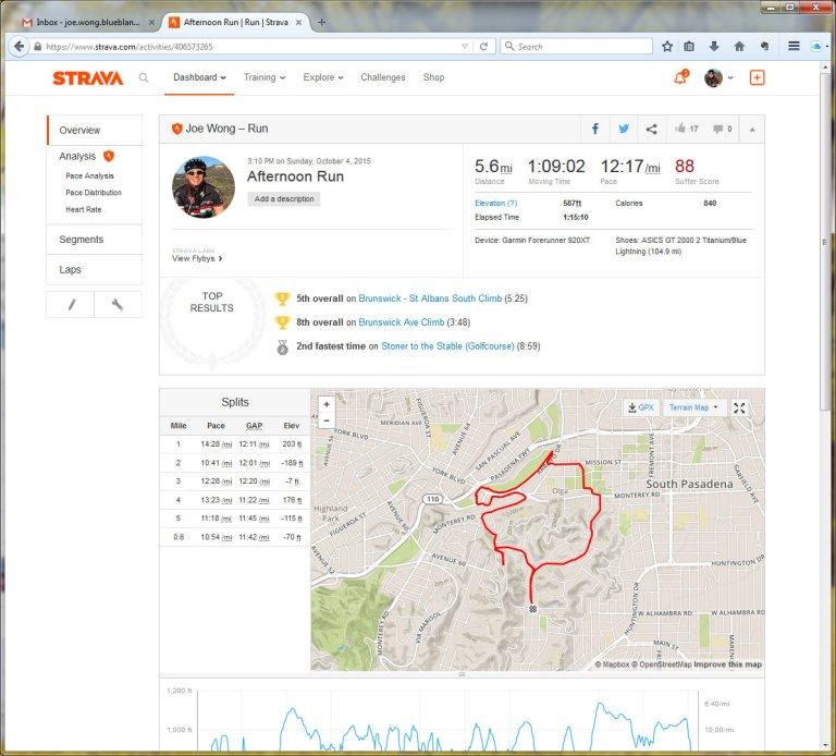 Afternoon Run Run Strava - Mozilla Firefox 1062015 104652 AM