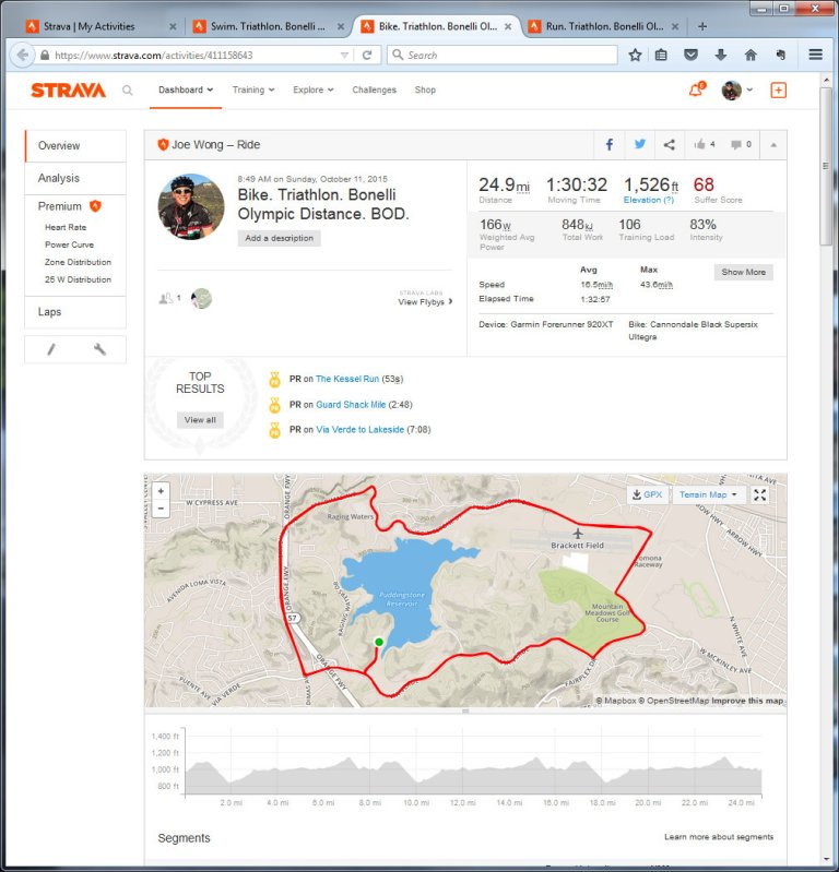 Bike. Triathlon. Bonelli Olympic Distance. BOD. Ride Strava - Mozilla Firefox 10112015 42053 PM