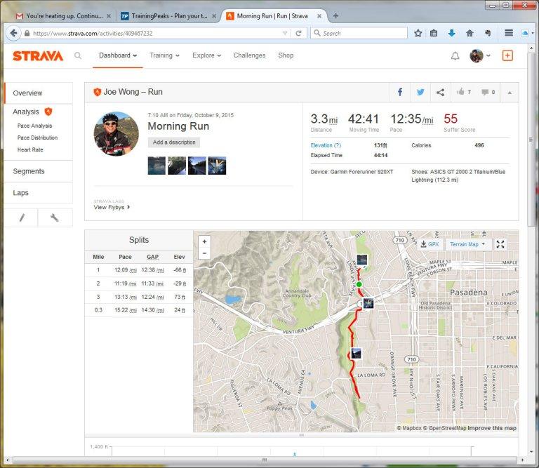 Morning Run Run Strava - Mozilla Firefox 1092015 24250 PM