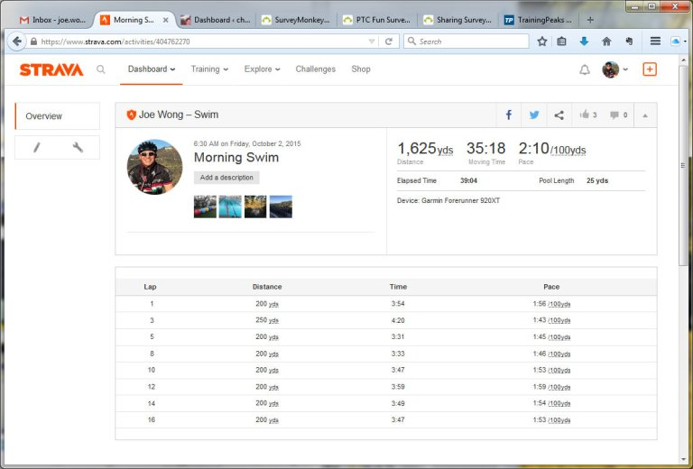 Morning Swim  Swim  Strava - Mozilla Firefox 1022015 90843 AM