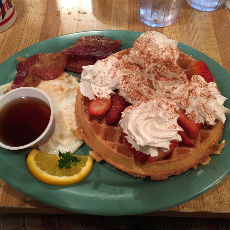Strawberry waffle combo