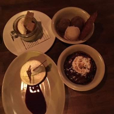 All the desserts