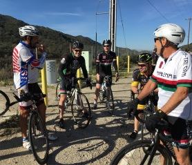 Regroup at the top of La Tuna Canyon