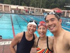 Swim 1A at RBAC. Amy, Lynda, me