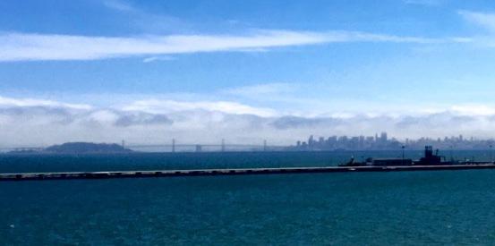 Richmond bridge, SF in the fog
