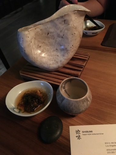 Sake and Sea squirt