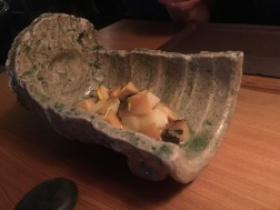 Steamed Abalone, Fresh Mochi, Ginger Miso