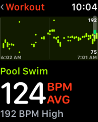 Heart Rate App - Swim Workout