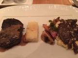 American Wagyu, scalloped potatoes, veggies, lamb shank
